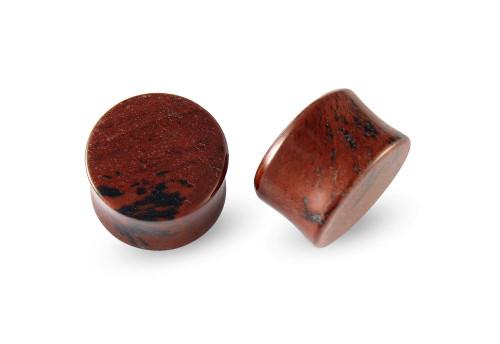 Pair Mahogany Obsidian Stone Plugs