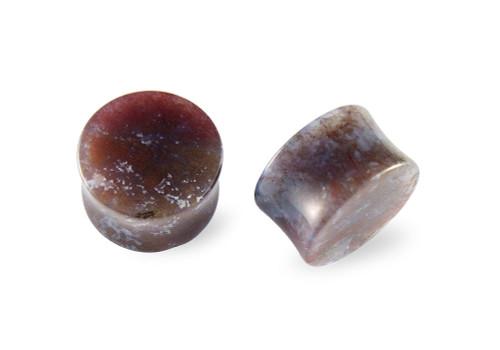 Pair Carnelian Agate Stone Plugs