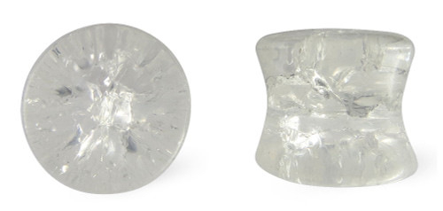 Clear Cracked Glass Plugs