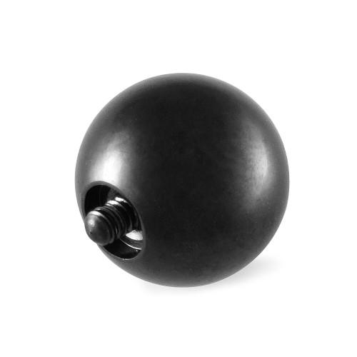 316L Surgical Steel Black Replacement Ball 6g Internal Bar 2 pcs