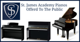St. James Academy Pianos Offered To The Public At BIG Discounts - Attend By Appointment Only September 16th - 18th - Public Sale September 19th.
