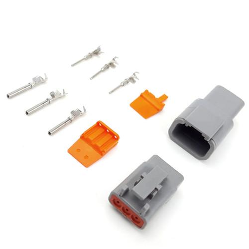 Deutsch DTM 3-pin Connector Kit 18-20 Gauge