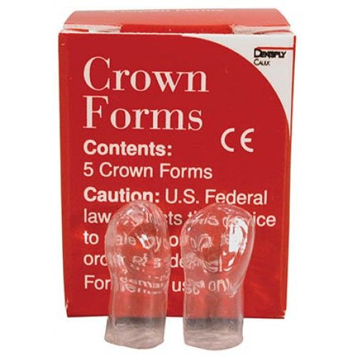Crown Forms, Clear, Celluloid. 5/Pk. B3, Large, Left Central, Large
