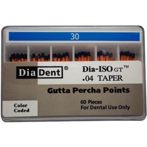 Gutta Percha Points - 0.04 Taper, 60/Box #30, Blue
