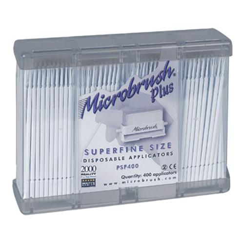 MicroBrush Plus Refill, Super Fine, White 400/Pk
