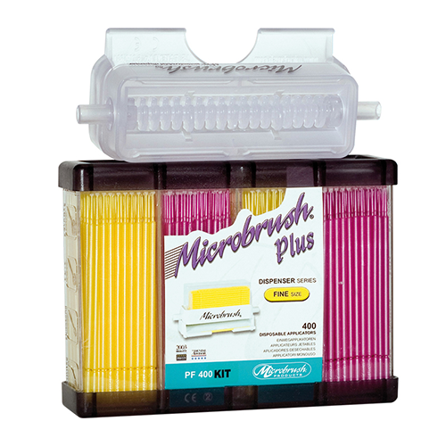 MicroBrush Plus with Dispenser and Fine Assorted 400 Brushes