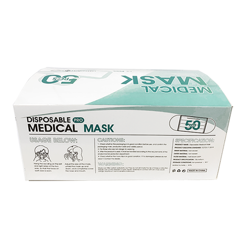 Level 2 Certified Medical Ear Loop Masks 3/Ply *** 50/Box ***