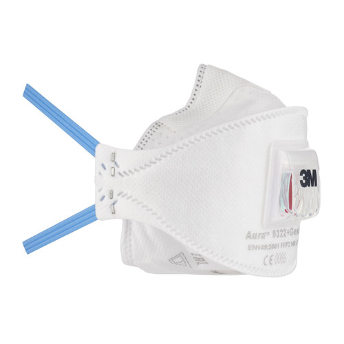Aura 9322K+ Particulate Respirator Mask With Valve 10/Pc