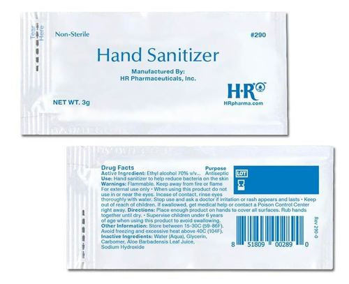 Single Use Pouches Hand Sanitizer 70% Alcohol *** 100/Pack ****