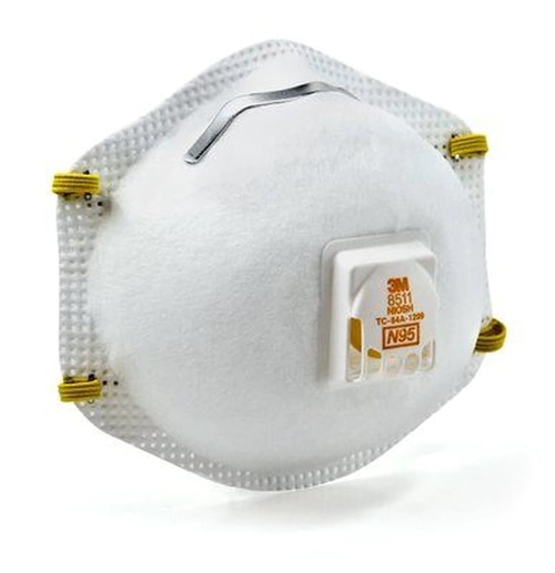 Genuine 3M N95 8511 Respirator With Cool Flow Valve (10/Pk)