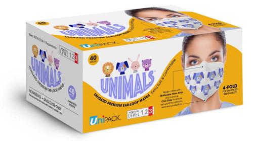 4-Ply Level 3 ASTM Animals Print Ear loop Mask (40/Box)