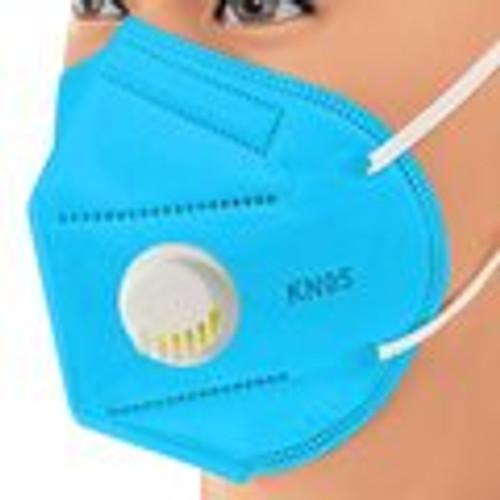 Blue KN95 Respiratory Masks 10/Box *** WITH VALVE ***