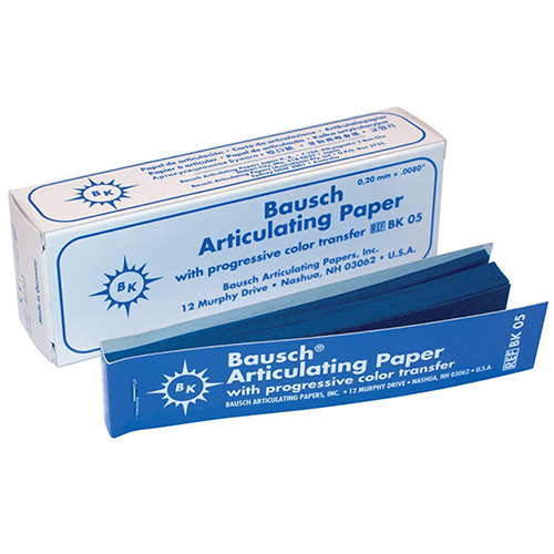 "Bausch .008"" (200 microns) BLUE Articulating Paper Strips,  300/Box"
