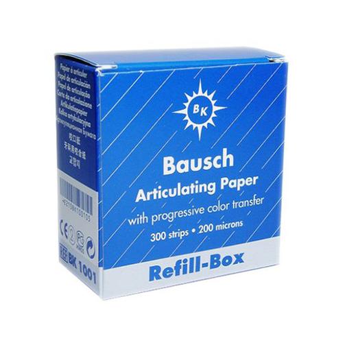"""Bausch .008"""" (200 microns) BLUE Articulating Paper Strips, REFILL, 300/Box"""