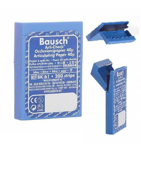 "Bausch Micro-Thin .0016"" (40 microns) BLUE Articulating Paper Strips,  200/Box"