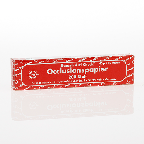 """Bausch Micro-Thin .0016"""" (40 microns) RED Articulating Paper Strips,  200/Box"""