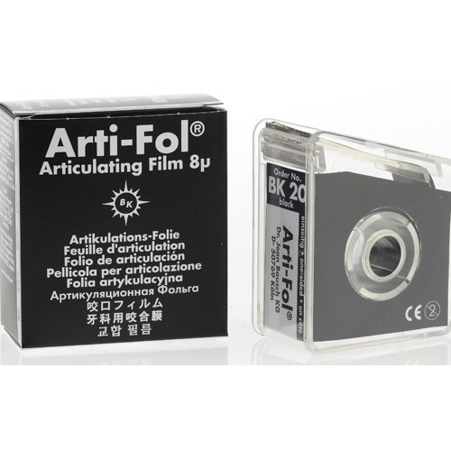 Bausch Arti-Fol I, Ultra Thin 8 Microns, 22mm x 20 m Roll, Black