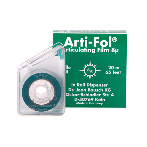 Bausch Arti-Fol II, Ultra Thin 8 Microns, 22mm x 20 m Roll, 2-Sided, Green