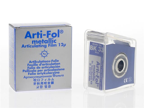 Bausch Arti-Fol Metallic - Blue One-Sided Shimstock-Film, 12 microns, 22 mm x 20 m Roll