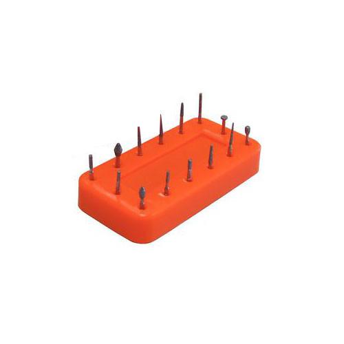 Bur Block Magnetic 14 Hole Neon Orange