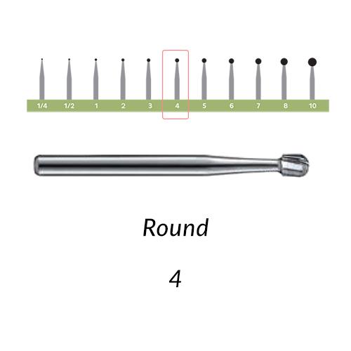 Carbide Burs. FG-4 Round. 10 pcs.