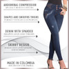 Pantalon Colombiano Levanta Cola Fernanda - Butt Lifting Jean Stretch