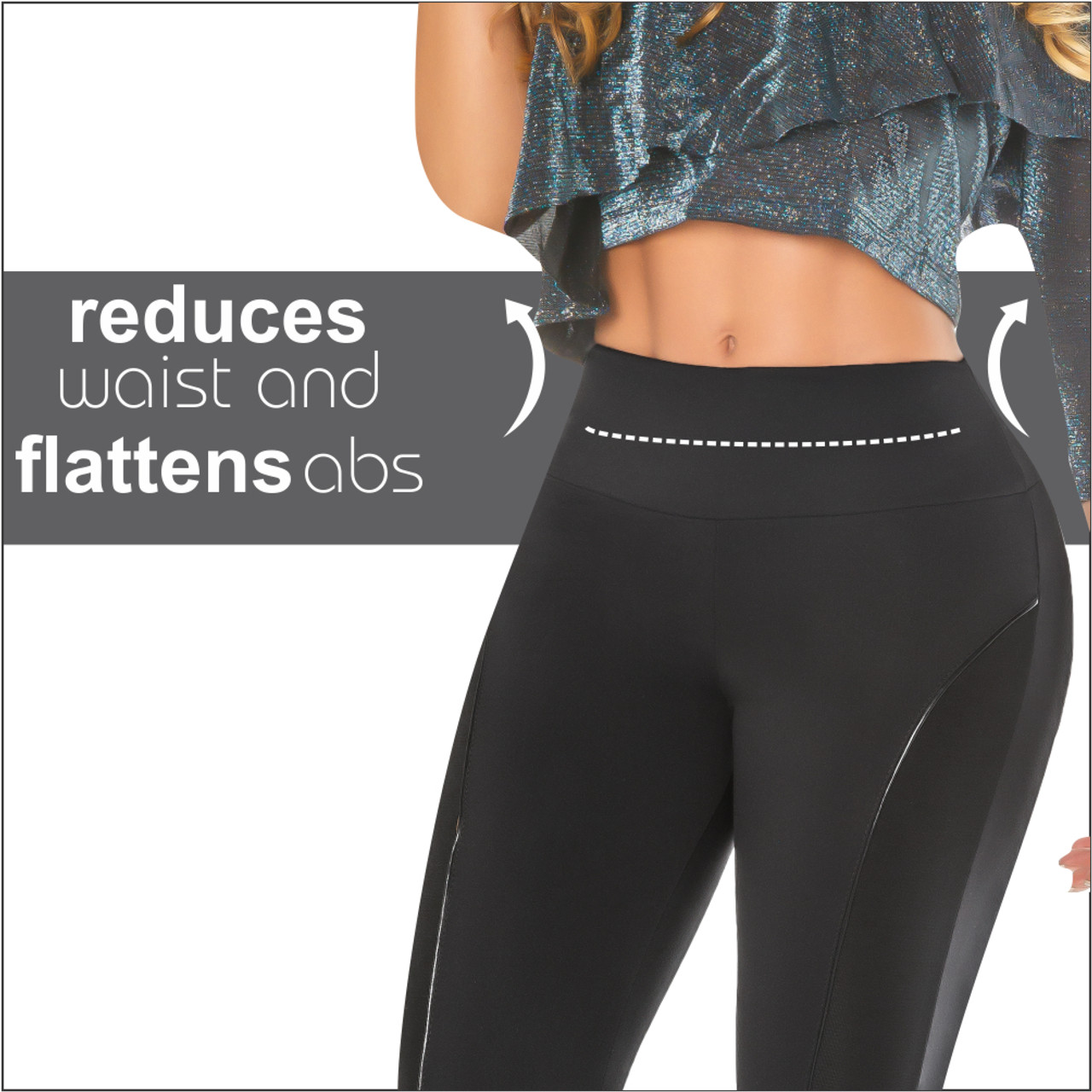 69ffd474148 Womens Butt Lifting Leggings High Waisted Thigh Slimmers Tummy Control Push  UP Colombian Leggings Levanta Cola Angel