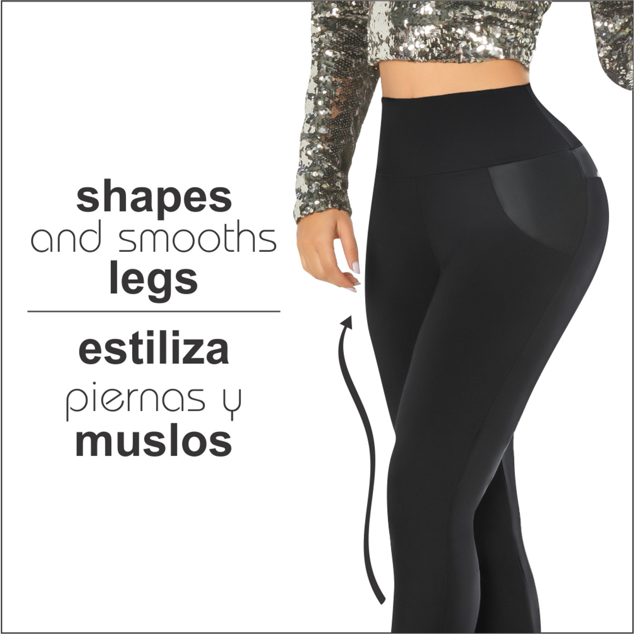 2f1a011254e Womens Butt Lifting Leggings High Waisted Thigh Slimmers Tummy Control with  body shaper Inside Push UP Colombian Leggings Yacarta