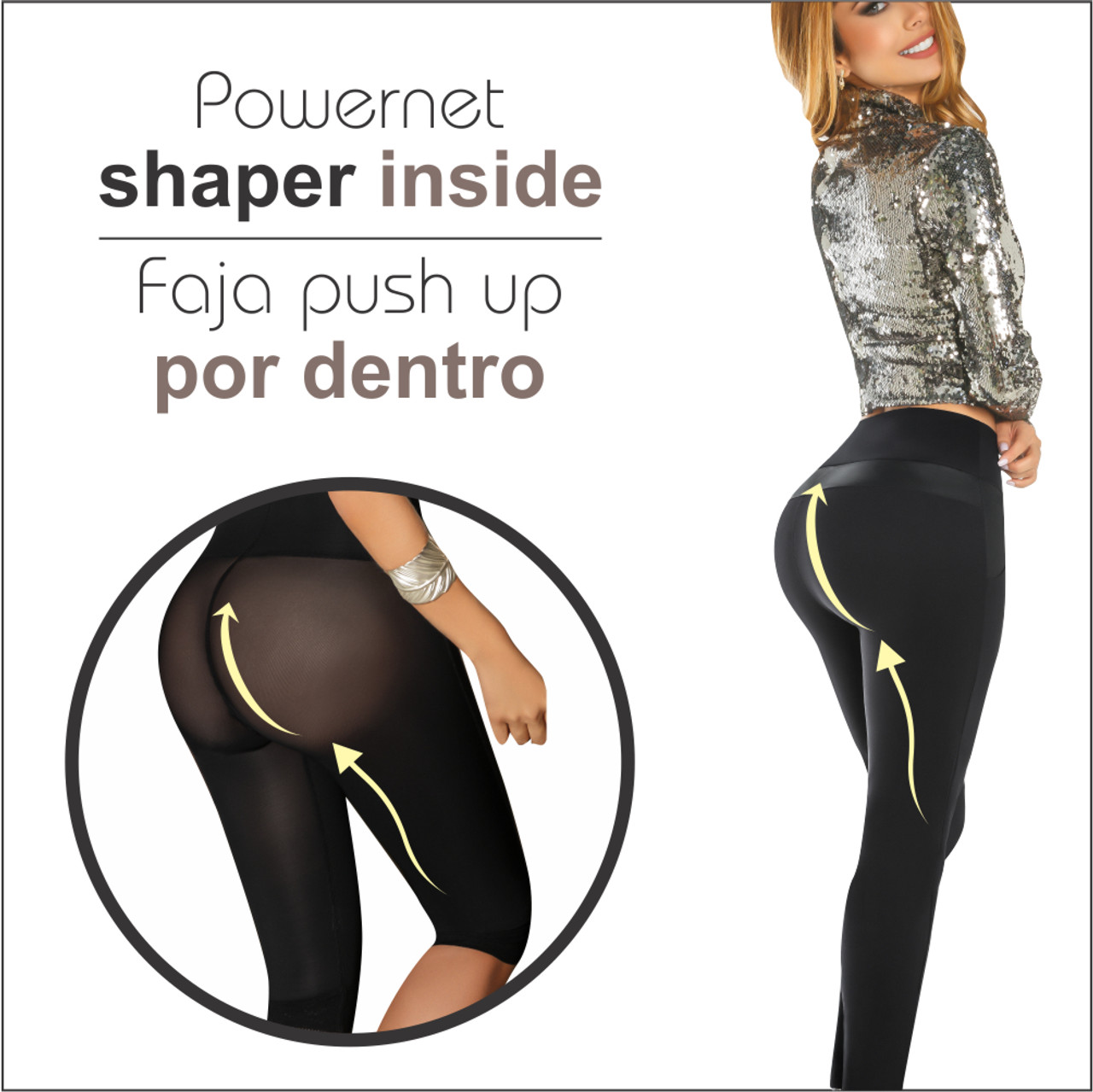 dbc179d896167 ... Womens Butt Lifting Leggings High Waisted Thigh Slimmers Tummy Control  with body shaper Inside Push UP ...