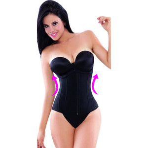 Faja Reductora Colombiana Ann Michell 1024B Excelencia Powernet Waist Trainer - Latex Free Black