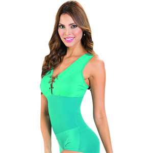 Colombian Body Blouse Shaper with Tummy Control Turquiose V