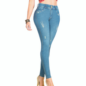 Pantalon Colombiano Levanta Cola Lia - Butt Lifting Jean Stretch