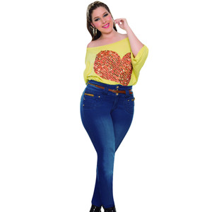 Plus Size Jeans Colombiano Levanta Cola