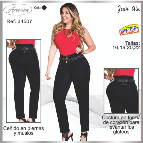 Plus Jean Colombiano Push Up Gia