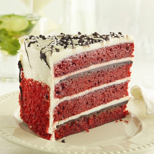Iced Red Velvet Cake (1 Count)
