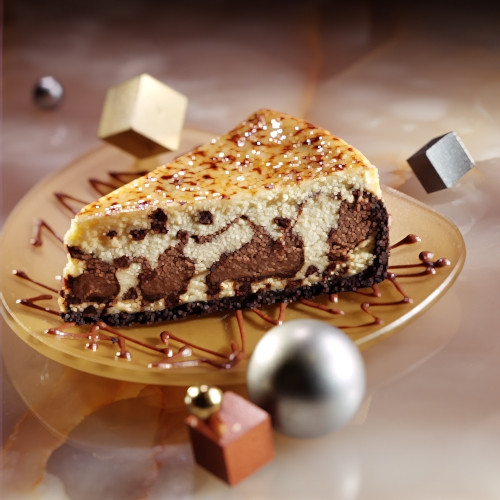 Marble Chocolate Chip Cheesecake