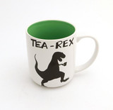 Tea-Rex Green Stoneware Mug