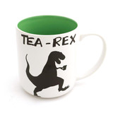 Tea-Rex Green Stoneware Mug