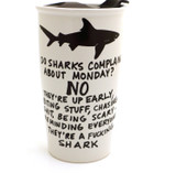 Mature Shark Travel Mug