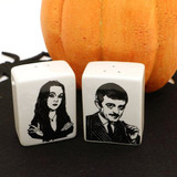 Gomez and Morticia - The Addams Family Salt and Pepper Shakers