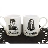 The Addams Family - Gomez and Morticia Mug Set