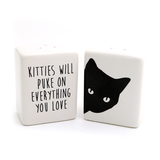 Kitties Will Puke on Everything Salt and Pepper Shakers
