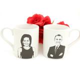 Barack and Michelle Obama Mug Set