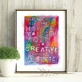 Creativity Rainbow Print