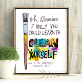 Self Cleaning Brushes Print