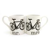 Mr. and Mrs. Bike Mug Set