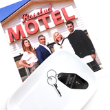 Schitts Creek Key Plate, Rosebud Motel Keychain