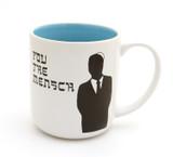You the Mensch Mug, Funny Jewish Mug, Yiddish Mug, Judaica by Lorrie Veasey