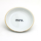 Mrs. Ring Dish with 22k Gold Accents