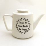 Books and Tea Teapot, Porcelain Teapot